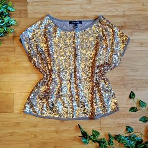 Sparkly gold sequin top
